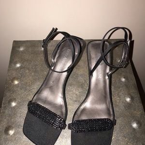 Black enzo angiolini sandals size 5 1/2